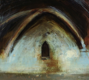 undercroft series, mixed media on panel © Mari French 2010