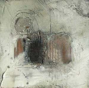 Ancient landscapes series © Mari French 2010. Mixed media on panel. 30x30cm