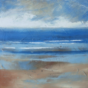 Holkham beach, winter. Acrylic on canvas. 40x40cm. © Mari French 2011. Sold