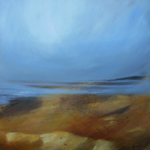 Quiet tide, acrylic on canvas, 60x60cm © Mari French 2011