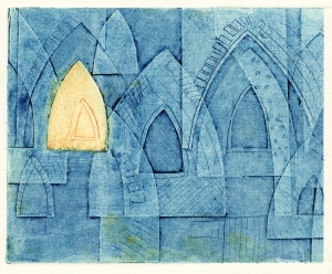 Arches (collagraph) © Mari French 2011