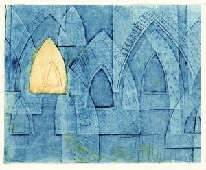 Arches (collagraph) © Mari French 2011