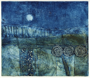 Harvest moon 2 (collagraph) © Mari French 2011