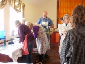 Collagraph workshop with Laurie Rudling (© Mari French)
