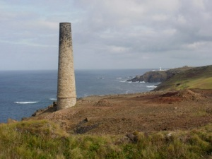 mine chimney, Cape Cornwall © Mari French 2011