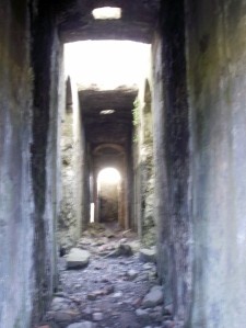 interior of ruined mine - Levant mine, Cornwall © Mari French 2011