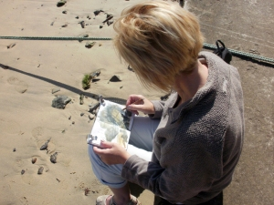 Sketching at Mousehole, Cornwall © Mari French 2011