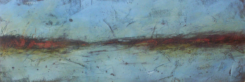 Saltmarsh (mixed media on board) © Mari French 2012