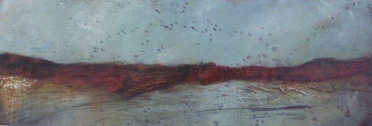 Saltmarsh 2 (mixed media on board) © Mari French 2012