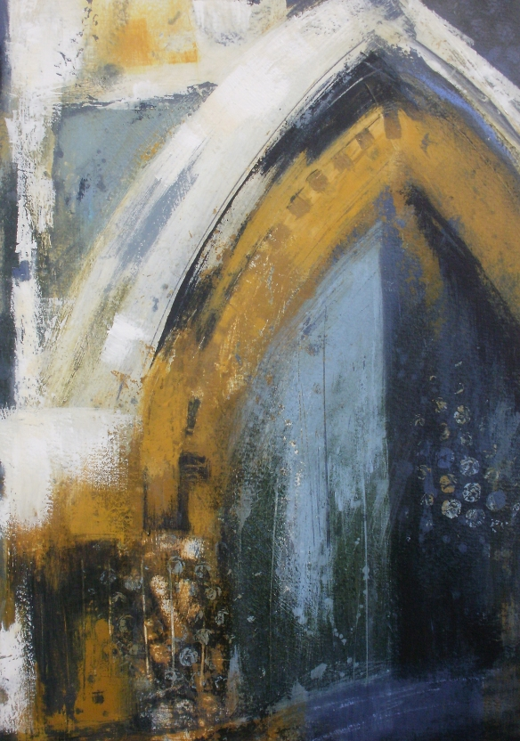 Threshold: blue & gold © Mari French 2012