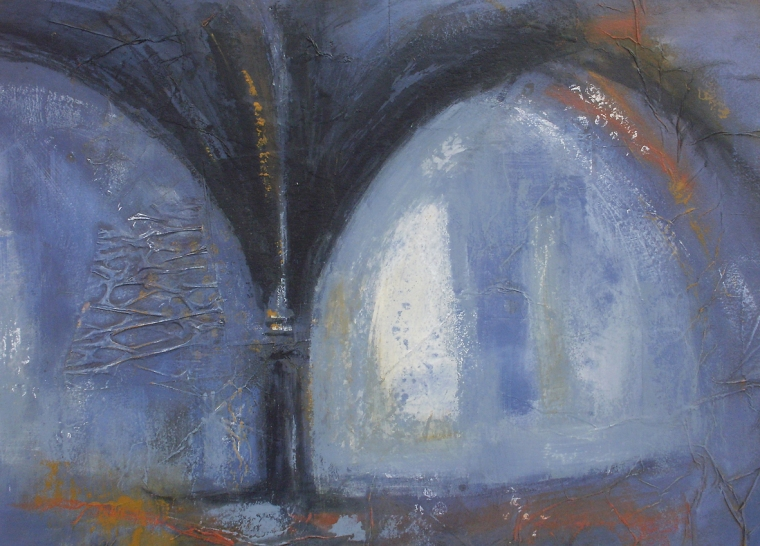 Undercroft - blue shadows © Mari French 2012