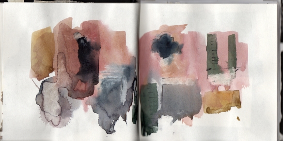 old palace abstract, watercolour sketch © Mari French 2012