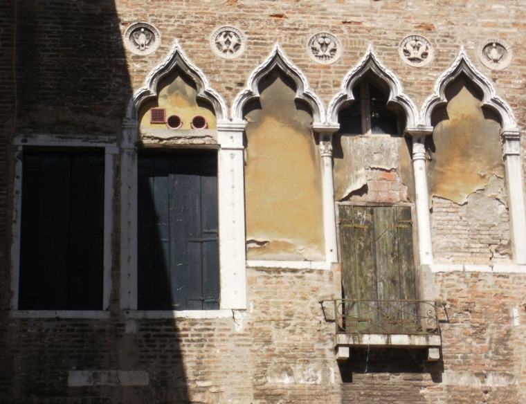 Venetian-gothic windows © Mari French 2012