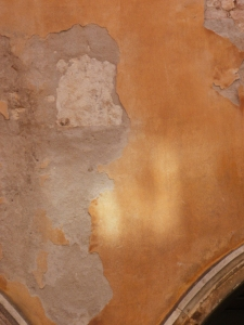 sunlight on old plaster © Mari French 2012