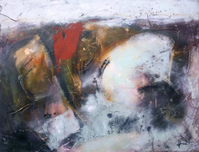 Mari French, saltmarsh landscape, landscape art, landscape painting,Norfolk,coast