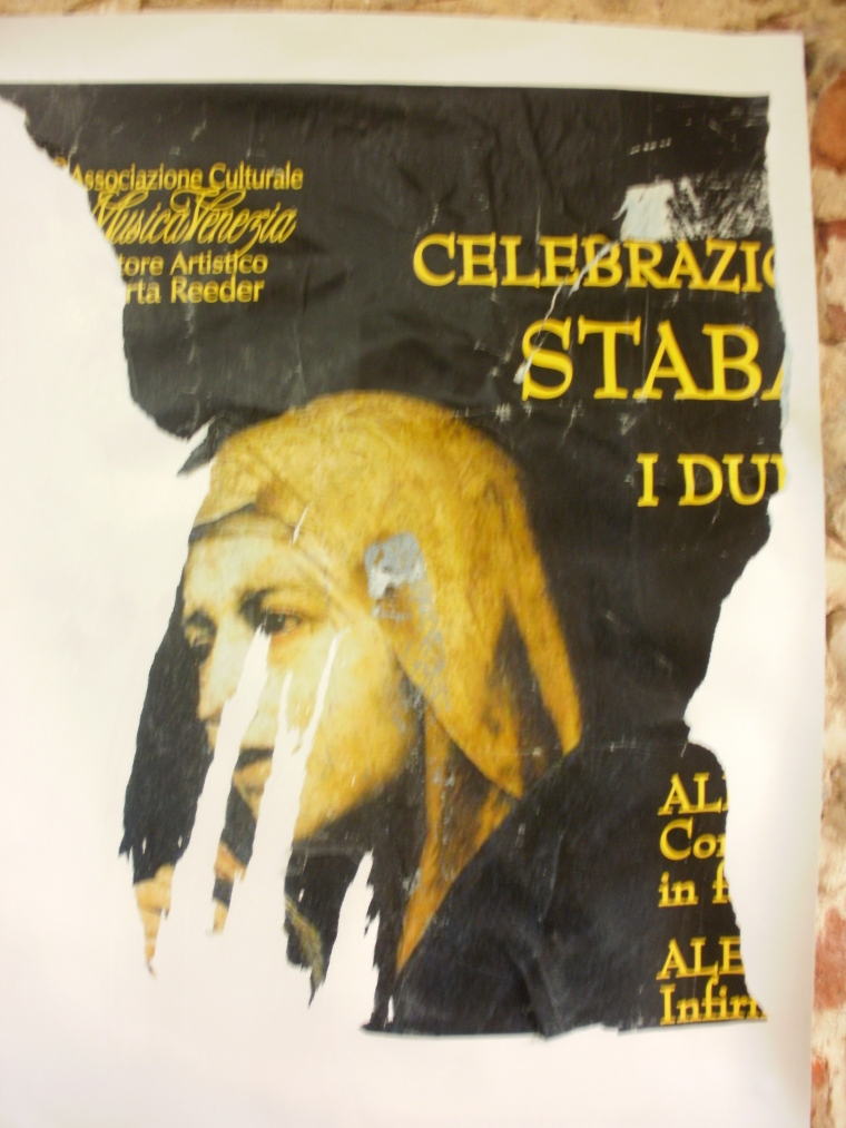 Stabat Mater, poster advertising choral event.