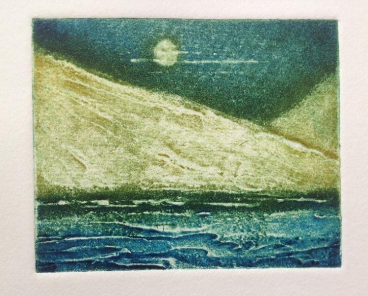 Sandpaper & glue print © Mari French 2013