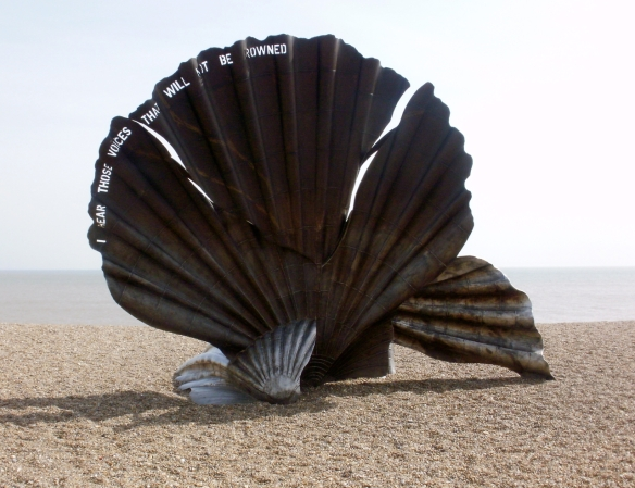 Maggi Hambling's Scallop, Aldeburgh. (photo © Mari French)