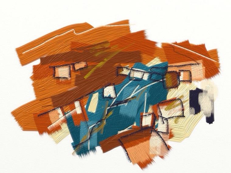 Levant: verdigris leach. Digital painting.