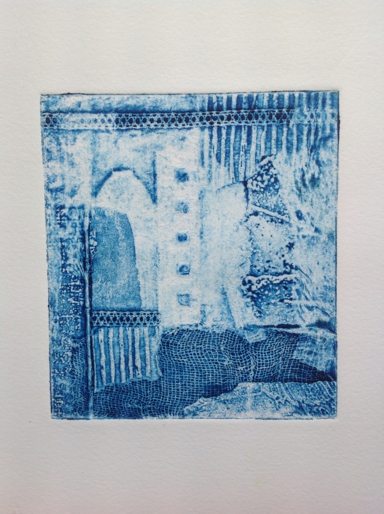 Untitled Collagraph, Mari French 2013