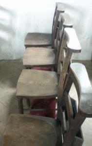 Chapel chairs. Digital photo. Mari French 2014