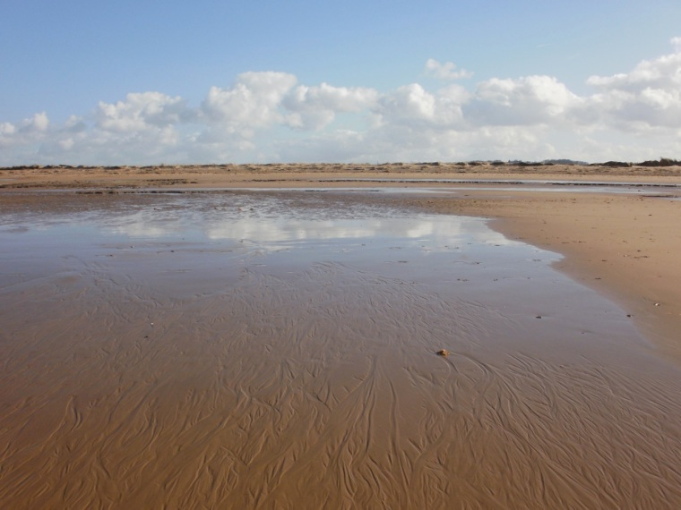 Brancaster beach, Mari French 2014.