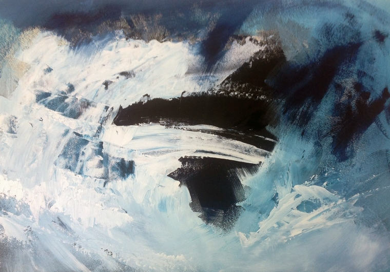 Wild sea 1. Acrylic on board. Mari French 2014