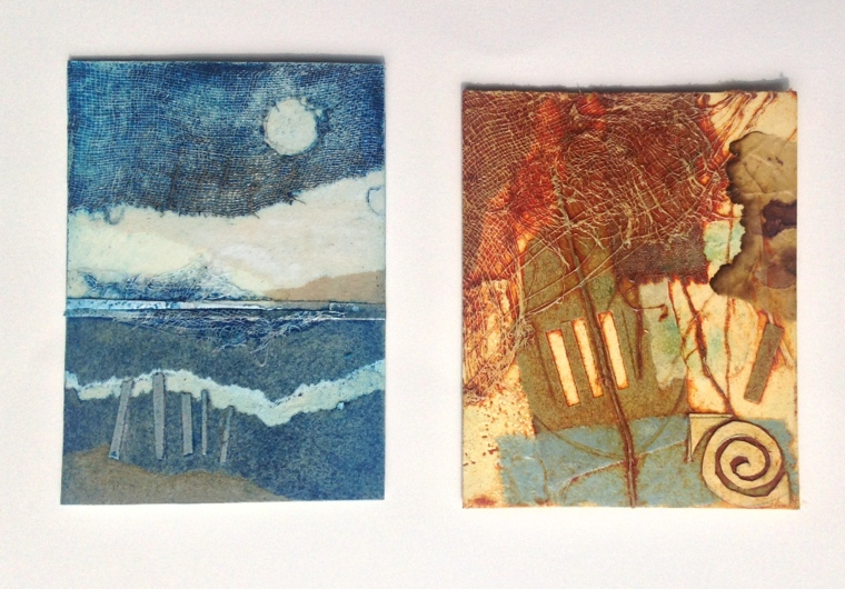 Collagraph plates. Mari French 2014