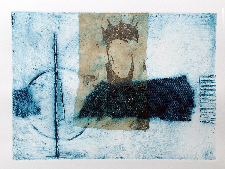 Collagraph with transfer and chine colle