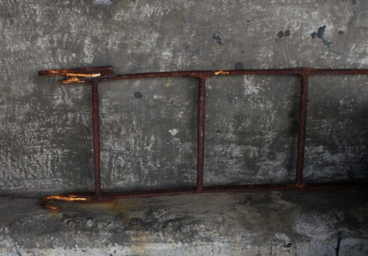 Rusting ladder, Newlyn. digital photo. Mari French 2014