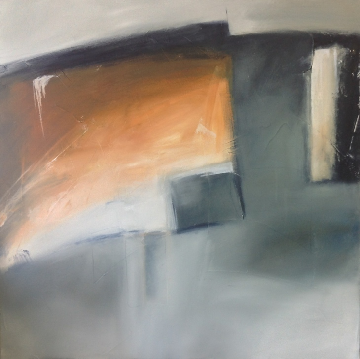 Untitled abstract, oil on canvas.
