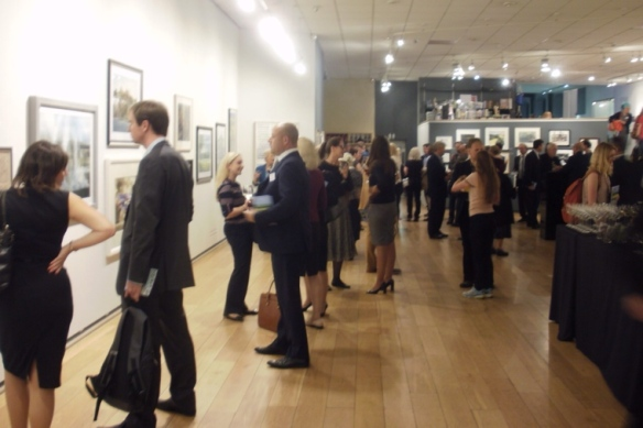 Private View, Sunday Times Watercolour Competition 2014, Mall Galleries, London.