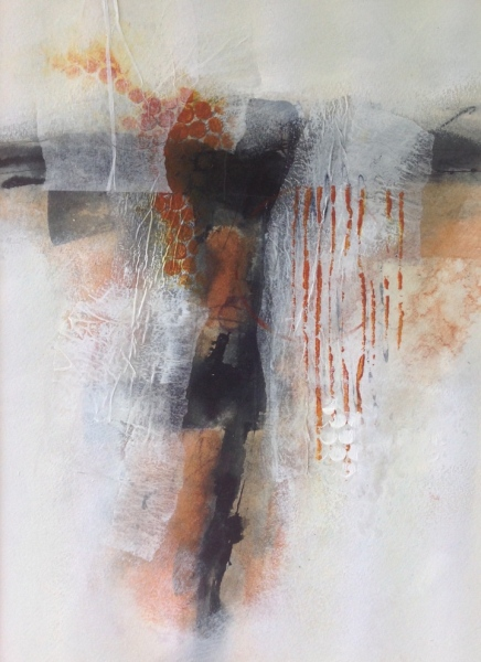 Rust Idol (ii). Mixed media on paper. Mari French 2014