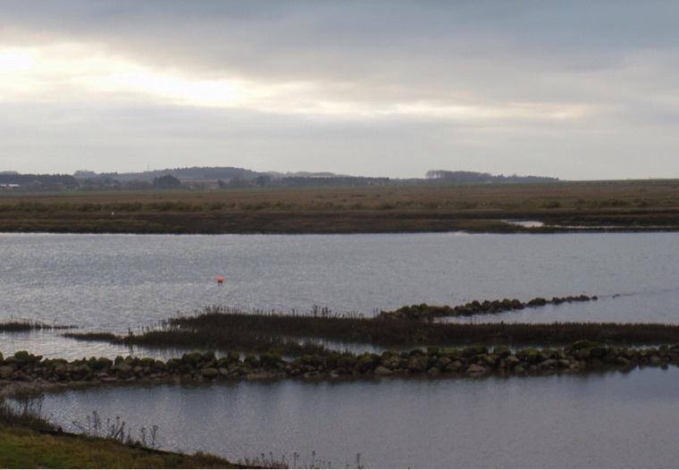 Burnham Overy marsh, high tide.