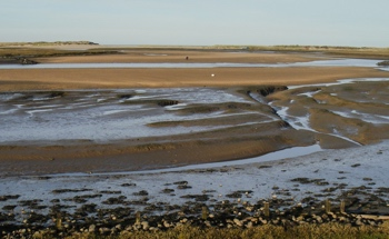 Burnham Overy marsh, low tide.