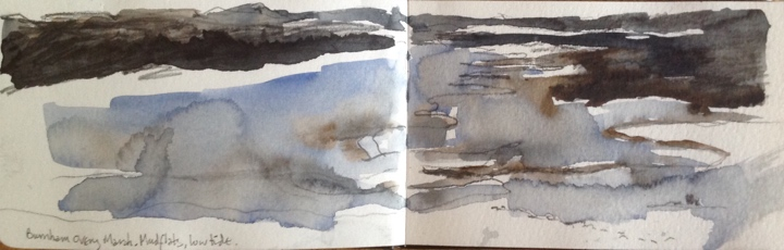 Sketchbook. Burnham Overy marsh, December.