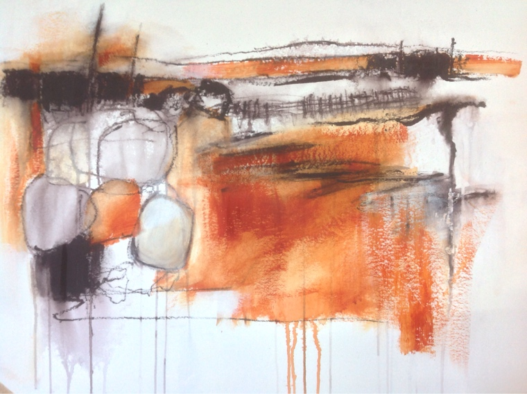 Experimental painting © Mari French 2015