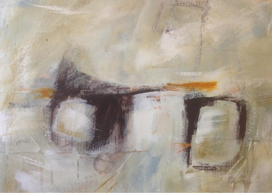 Saltmarsh abstract by Mari French 2015