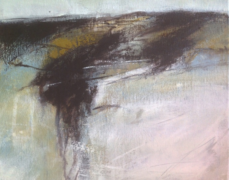 Saltmarsh. Acrylic/ink on board. ©Mari French 2015