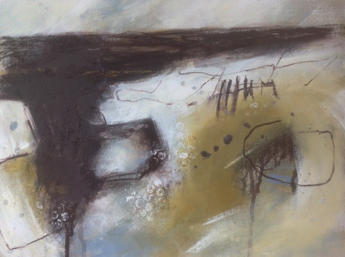 Saltmarsh series, mixed-media on canvas. © Mari French