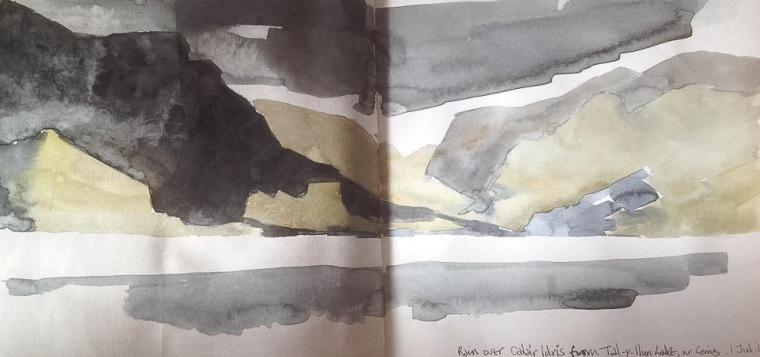 Cader Idris and Tal-y-Llyn Lake. Mari French 2015