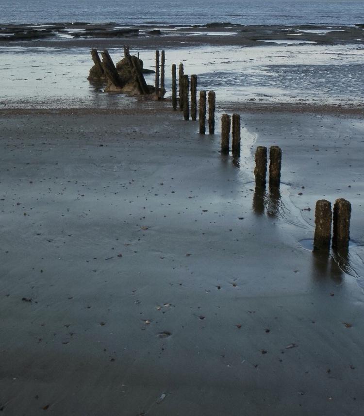 Holme Beach, groynes.