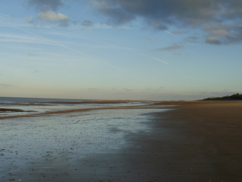 Beach at Holme Dunes, November. Mari French 2015