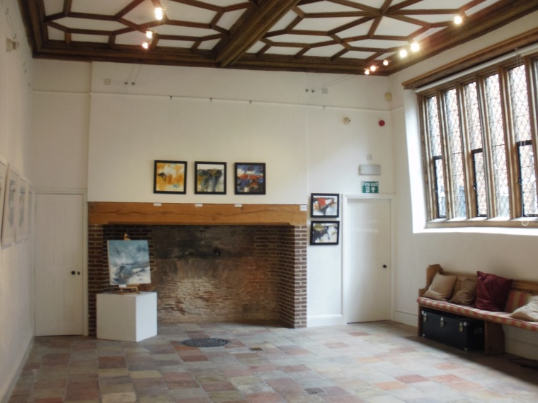 Medieval main gallery, Breathing Space exhibition, Anteros Arts Foundation.