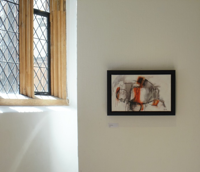 Two artworks, Breathing Space exhibition, Anteros Arts Foundation.
