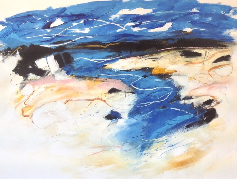 Salt & sand series. Mixed media on paper, 70x50cm.