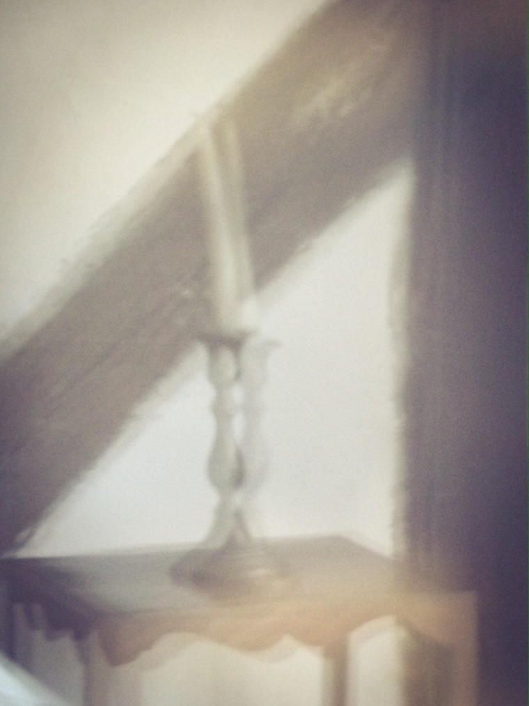 Candlestick, Little Hall, Lavenham. Digital abstract photo.