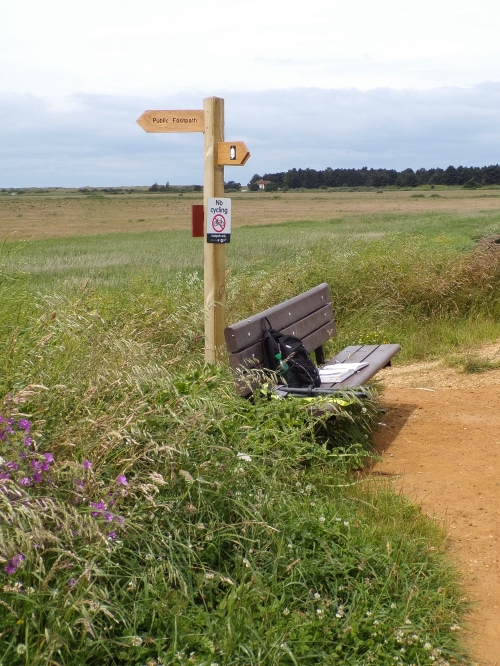Bench & signpost. © Mari French 2016