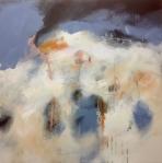Illuminated coast (i), mixed media on canvas, 100x100cm. © Mari French 2016
