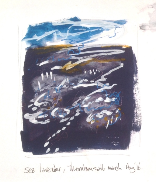 Thornham Saltmarsh, sketchbook.